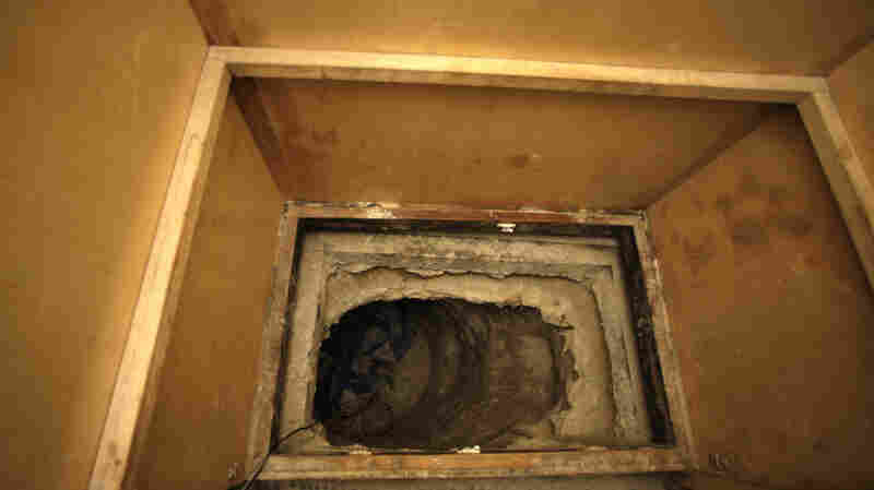 A tunnel used to smuggle marijuana between the U.S. and Mexico.