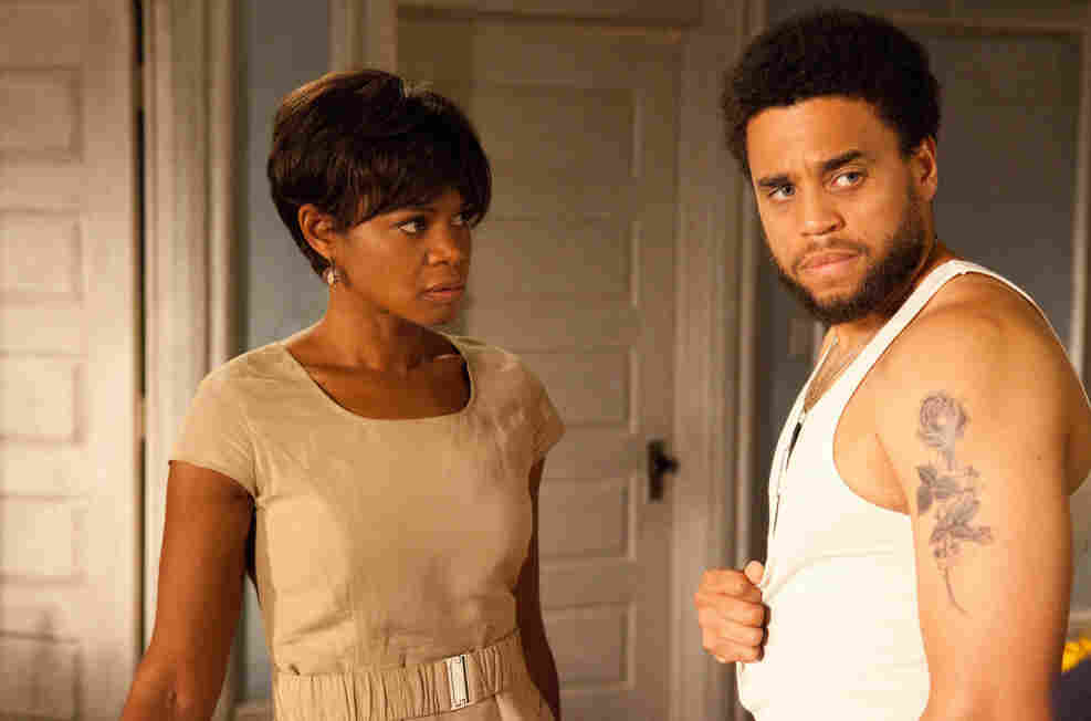 Actors Kimberly Elise and Michael Ealy star in 'For Colored Girls.'