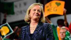 Meg Whitman and supporters on Election Night.