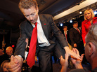Rand Paul greets supporters during an election night party.