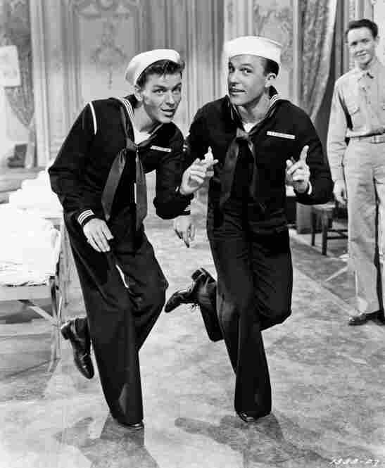 Frank and Gene Kelly play a couple of sailors on shore leave in MGM's Anchors Aweigh, circa 1945.Michael Ochs Archives/Getty Images
