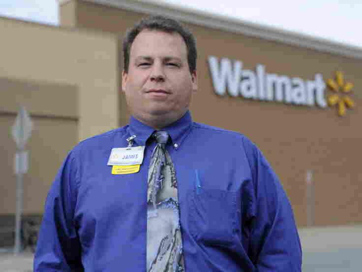 Walmart employee James Buskell. Mito Habe-Evans/NPR