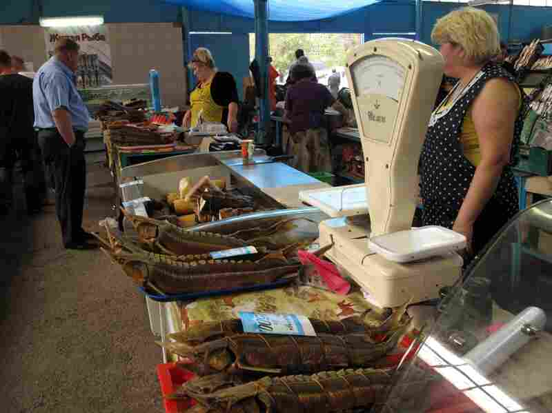 Astrakhan's fish market boasts smoked fish and the fresh catches of the day. But there is little black caviar available, and what is for sale must have government documents to show it is legal.
