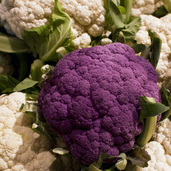 Produce displays at Wegmans grocery store attempt to make vegetables like cauliflower more appealing
