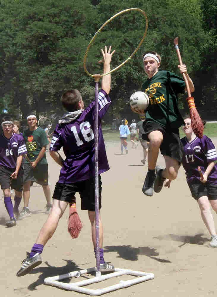 A game of quidditch. Tina Fineberg/AP