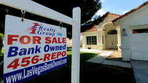 A house under foreclosure in Las Vegas.