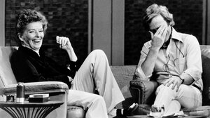 Katharine Hepburn and Dick Cavett pictured in 1973.