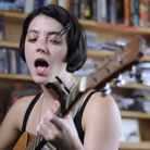 Sharon Van Etten performs a Tiny Desk Concert at the NPR Music offices.