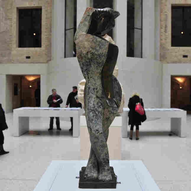 View of German artist Marg Moll's sculpt