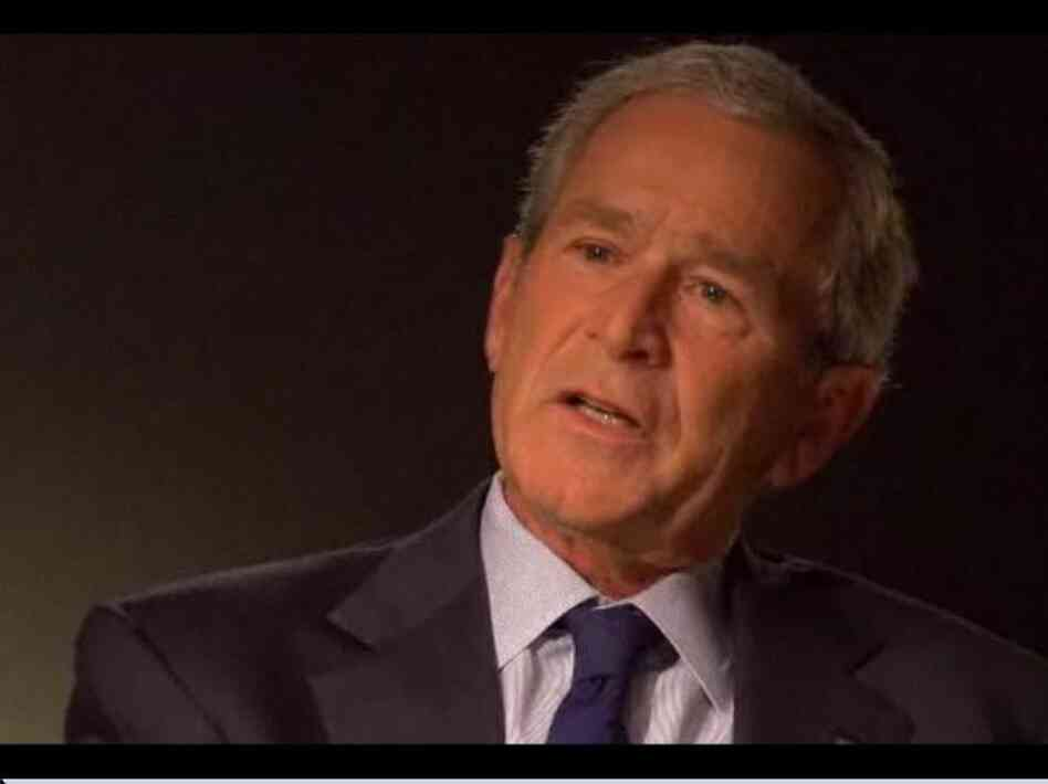 President George W. Bush with Matt Lauer