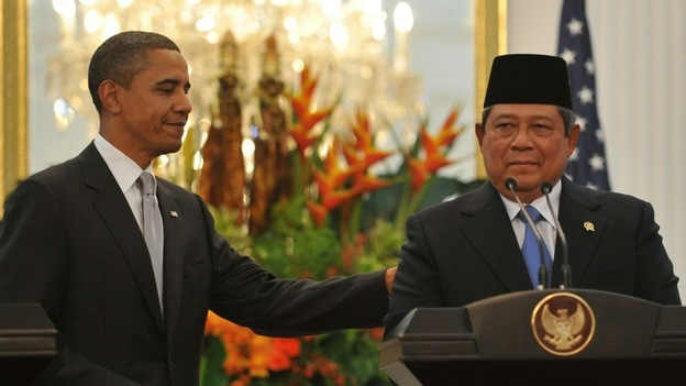 U.S. President Obama held a joint news conference with Indonesian leader Susilo Bambang Yudhoyono.
