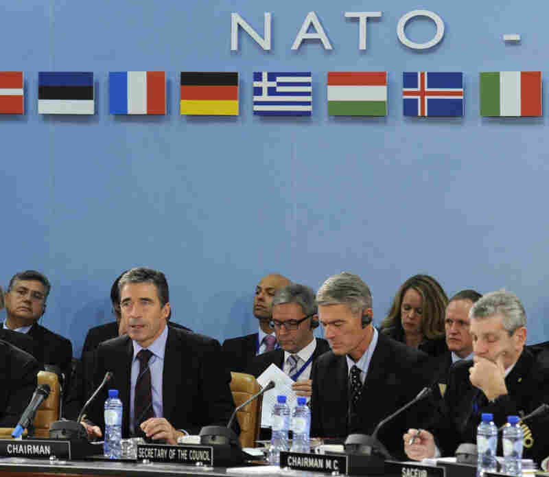 NATO Secretary-General Anders Fogh Rasmussen opens a NATO meeting in October.