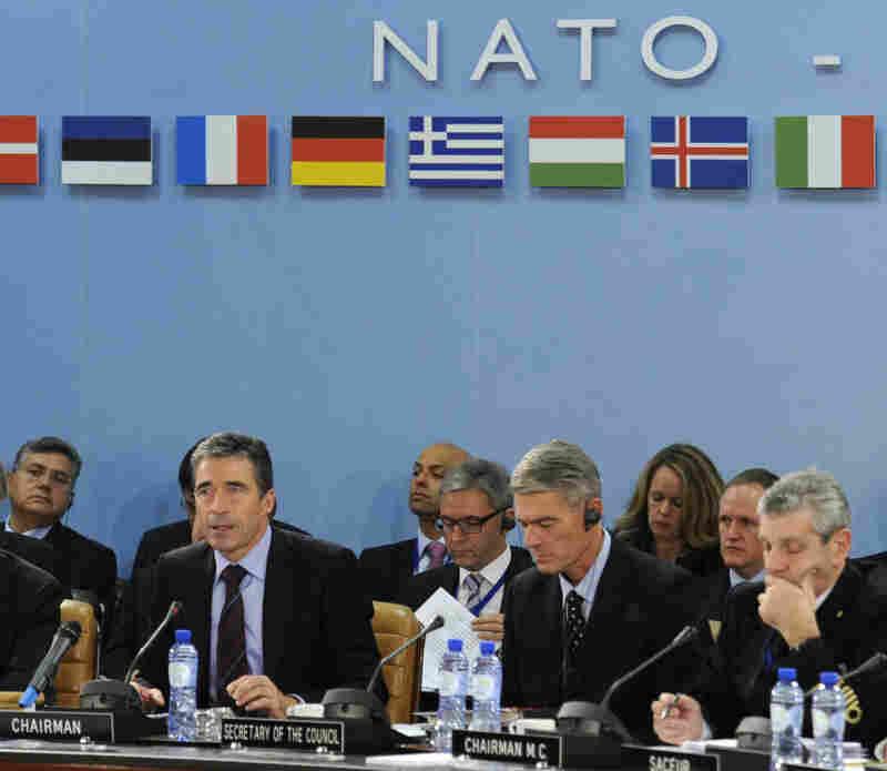 NATO Secretary-General Anders Fogh Rasmussen opens a NATO meeting in October.
