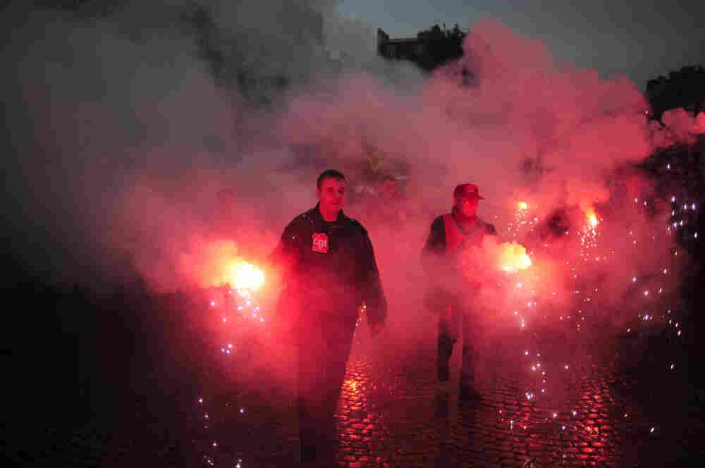 People demonstrate in Paris, on November