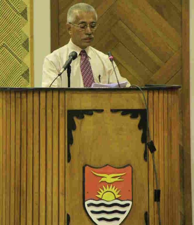 President Anote Tong of Kiribati.