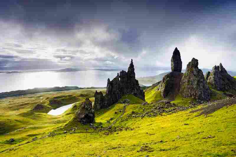 Called the Old Man of Storr, these basalt rock formations found on the Isle of Skye in Scotland, are made primarily from ancient lava. Credit: Derek Croucher/Getty