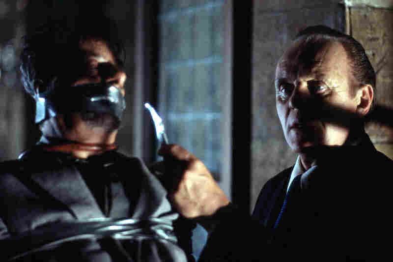 Anthony Hopkins (right) and Giancarlo Giannini in a scene from Hannibal.
