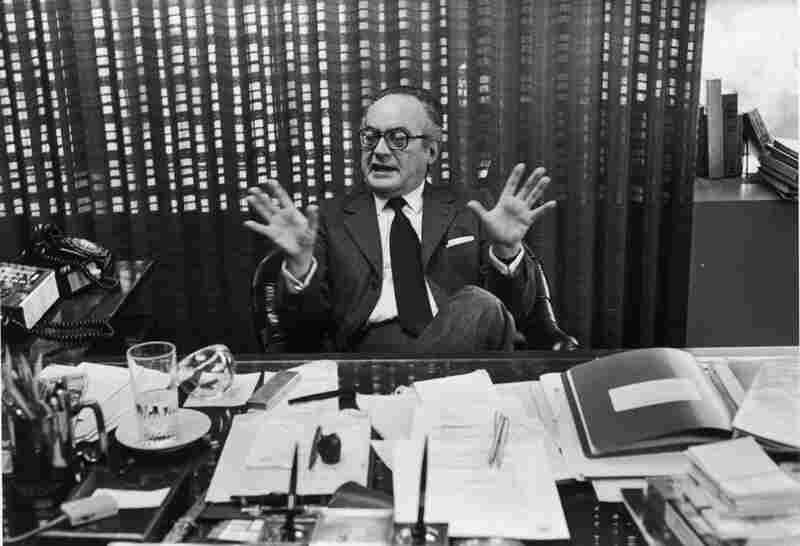 De Laurentiis is interviewed in his office, circa 1970.