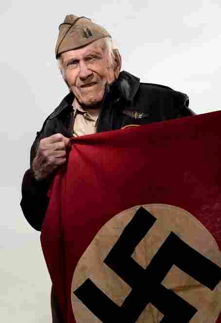 Louis Zamperini, captain, U.S. Army Air CorpsAn Olympic athlete prior to the war, Zamperini competed in the 1936 Berlin games where he took this souvenir. He was shot down in the Pacific and spent the end of the war as a Japanese POW.