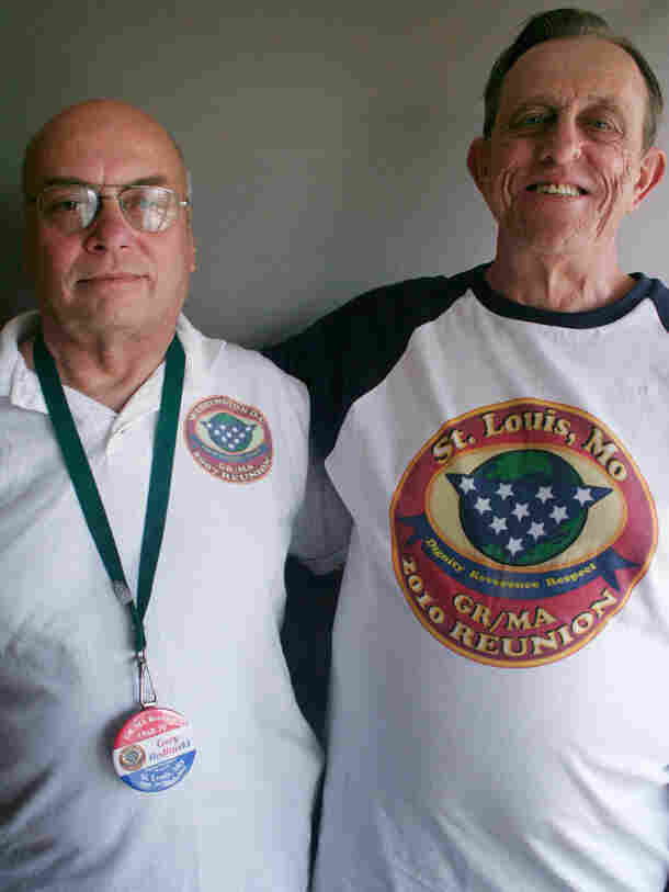 Veterans Gary Redlinski and Glen Fruendt at StoryCorps in St. Louis.