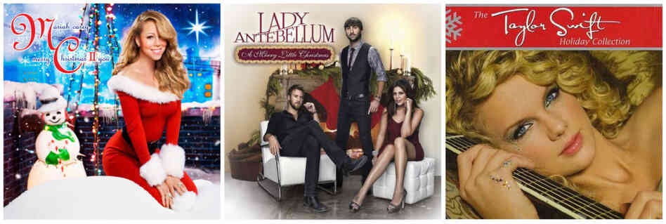 Christmas albums by Mariah Carey, Lady Antebellum and Taylor Swift