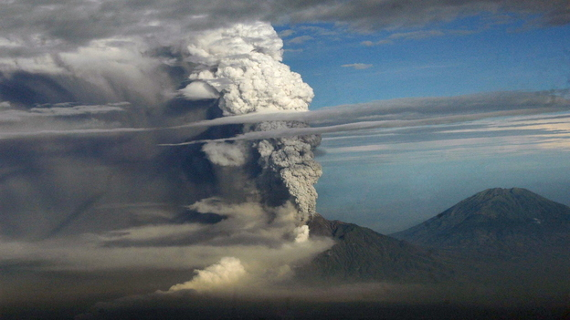 Mount Merapi, Indonesia's most active volcano, erupts on Nov. 4. The mountain has been spewing hot ash, dust and lava since Oct. 25. (AFP/Getty Images)