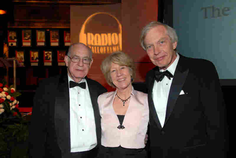 Carl with NPR Newscaster Jean Cochran and fellow Radio Hall of Fame inductee, Bob Edwards (Donald Pointer Photography).