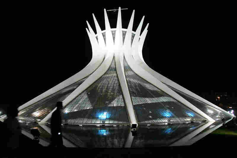Brasilia's Cathedral was inaugurated in 1960. The capital moved from Rio de Janeiro to the newly created Brasilia in 1960.