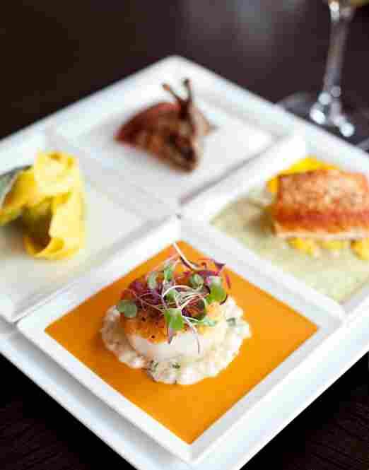 Seared Diver Caught Scallop, part of Kora Restaurant's 12-item tasting menu