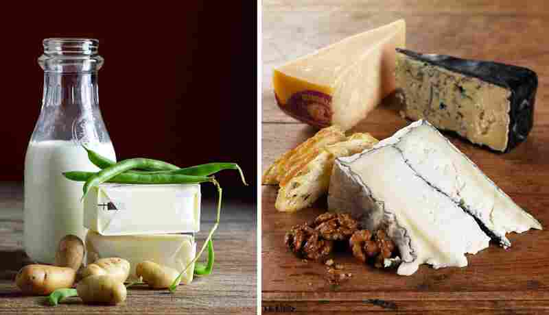 Milk & cheese diptych for Ixia Restaurant