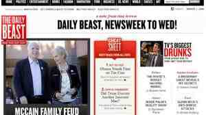 The Daily Beast and Newsweek are mergi