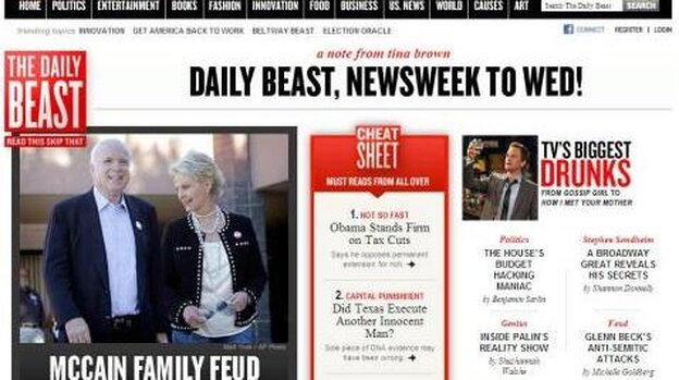 The Daily Beast and Newsweek are merging.