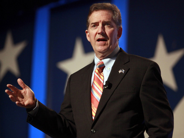 Sen. Jim DeMint (R-SC), shown speaking to the Values Voter Summit in Washington in September, has new clout in the Republican Party after backing conservative candidates in the midterm elections.