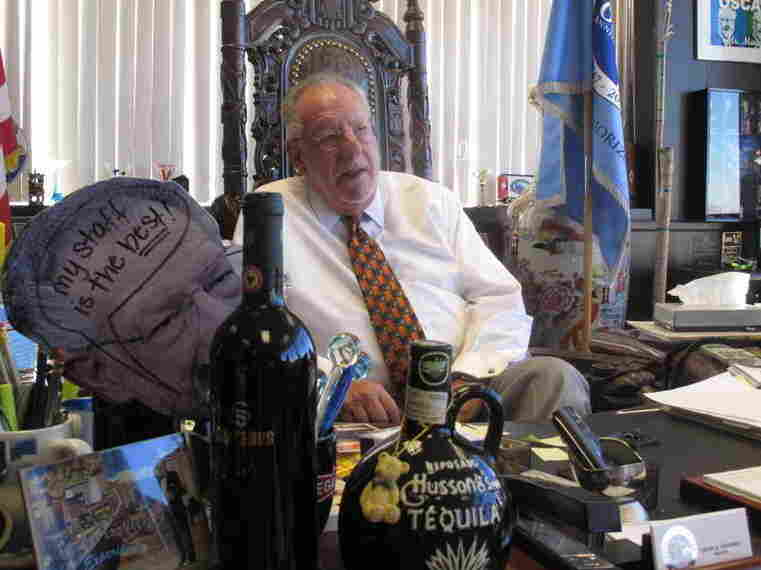 Las Vegas Mayor Oscar Goodman's office reflects his buoyant personality.