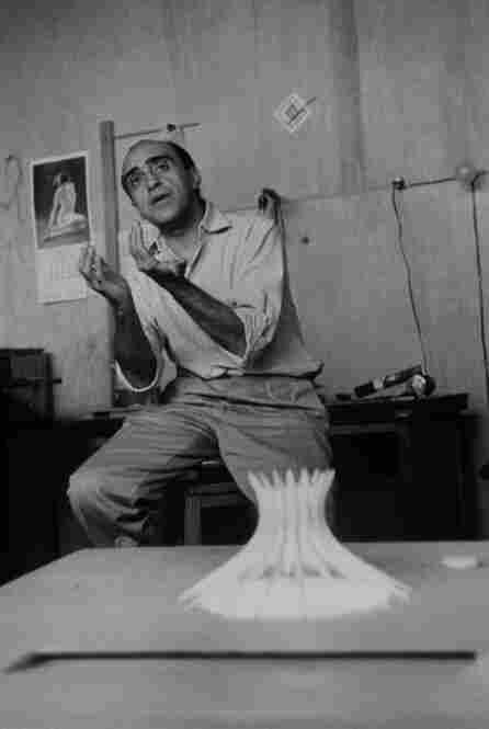 Architect Oscar Niemeyer in his off