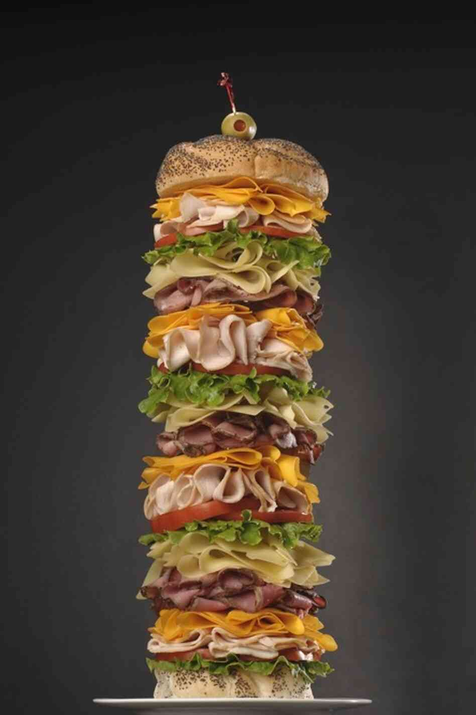 Building a tall sandwich involves some sleight-of-hand — and some hardware. The