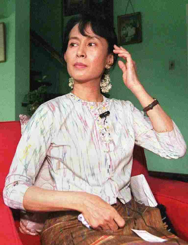 Aung San Suu Kyi in 1998. Voja M.AFP/Getty Images