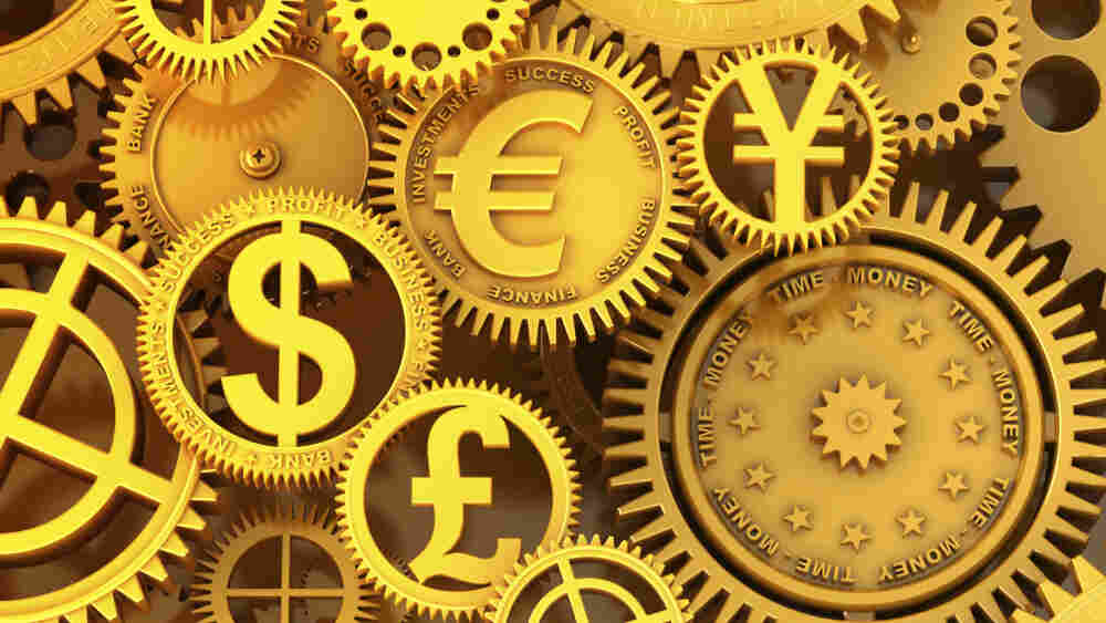 Golden symbols of currency. iStockphoto.com