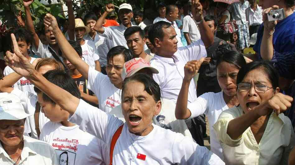 Supporters of Aung San Suu Kyi. Soe Than Win/AFP/Getty Images