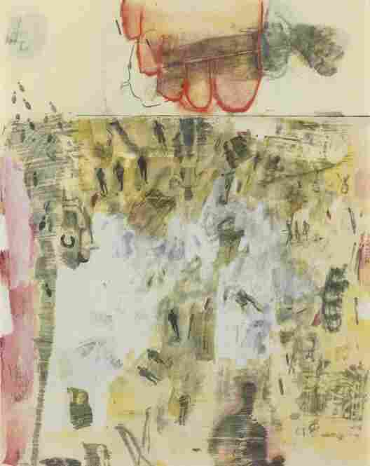 """The Lavender Scare"" of the 1950s, paralleling the Red Scare, refers to the persecution of gays and lesbians. Artists like Robert Rauschenberg and Jasper Johns, lovers for years, opposed that prevailing political culture in their work. Canto XIV [From XXIV Drawings From Dante's Inferno], 1959"