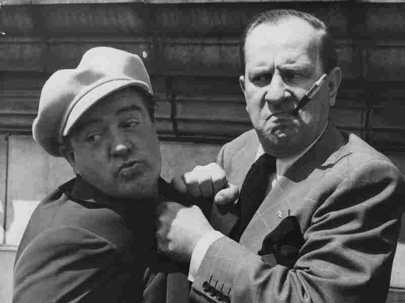 American comedy duo Bud Abbott (right) and Lou Costello (left) in 1950.