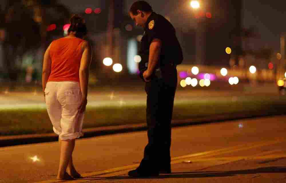 Field sobriety test in Miami