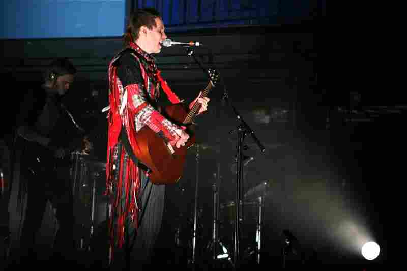Jonsi, performing live at the 9:30 Club in Washington, D.C. on Nov. 9, 2010.