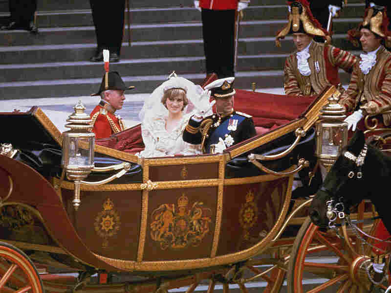 Prince Charles and Princess Diana leave their 1981 wedding at St. Paul's Cathedral.