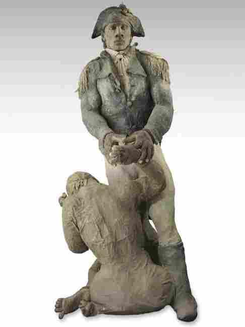 Toussaint Louverture et la vieielle esclave