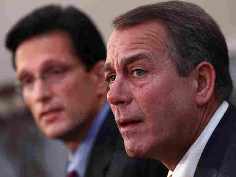 House Minority Leader John Boehner (R-OH) (R) and Republican Whip Eric Cantor (R-VA)