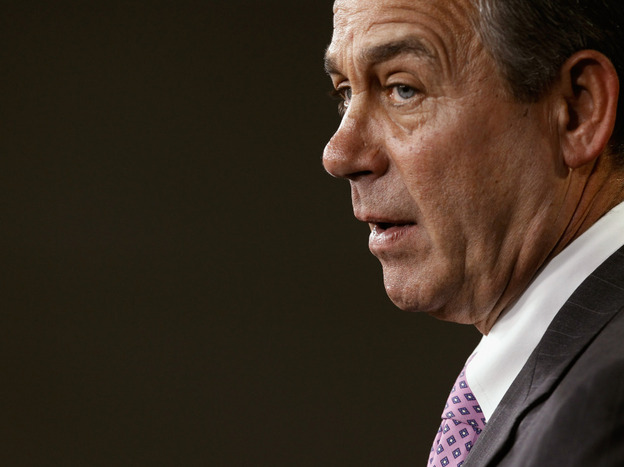Speaker of the House-elect John Boehner speaks during a news conference with fellow GOP House leaders on Nov. 18. Boehner says he will do whatever it takes to eliminate the new health law.