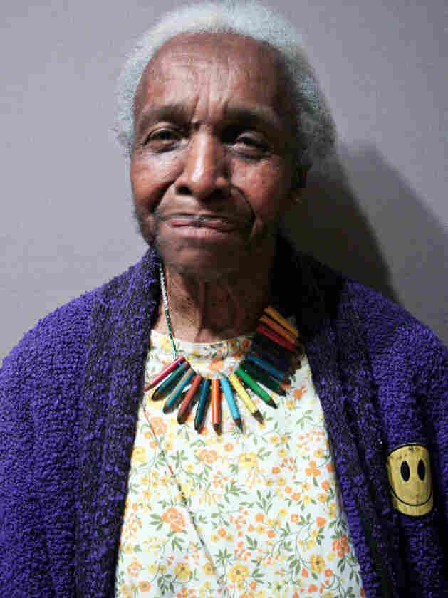 Rev. Veronica Lanier, 92, is a regular guest at Macaulay's thanksgiving dinners.