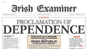 The Irish Examiner's front page, Nov. 19, 2010.