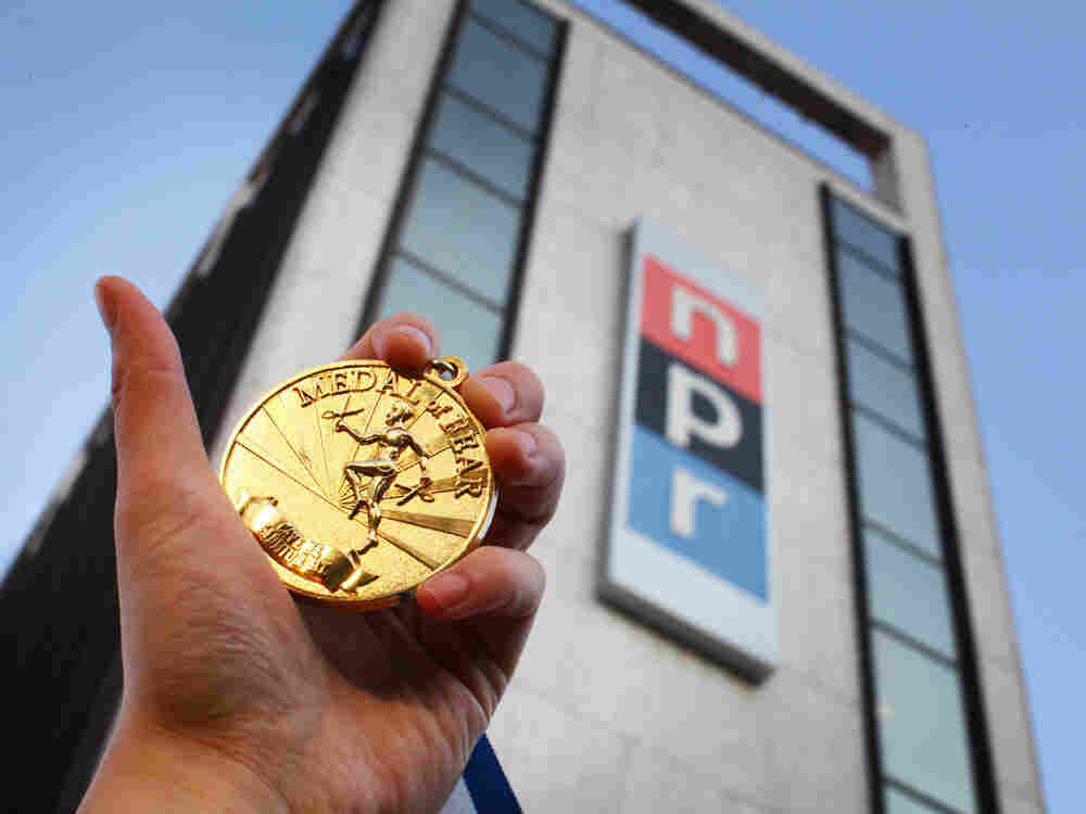 NPR's Medal Of Fear, outside the NPR building